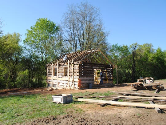 The Mount Tabor Log Church was reconstructed at Frontier