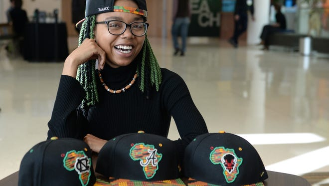 Varehya Pratt, a Colorado State University sophomore, has designed a hat that international hat retailer Zephyr Headwear now sells. One of her own paintings was her inspiration for the design.