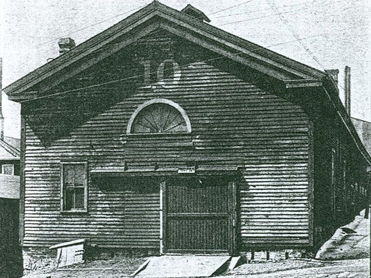 Sheboygan's first church, the Congregational, once located at Seventh and Center.