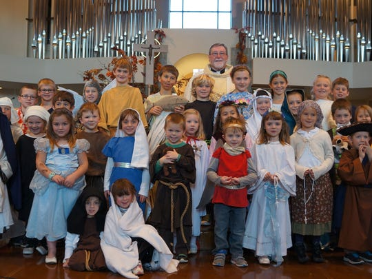 """Students from Shepherd of the Hills Catholic School celebrated """"All Saints Day"""" by dressing up as their favorite saint last weekend at Mass."""