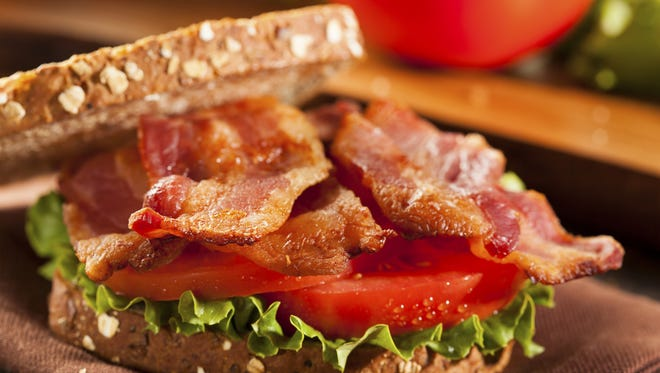 Celebrate Bacon Day on Saturday with a homemade BLT sandwich.