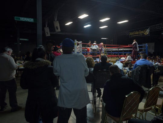 Bert's Warehouse Theater in Detroit is packed for the 2018 Detroit Golden Gloves tournament on Sunday.