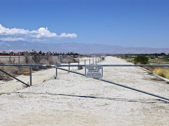 The view from Ramon Road of the Whitewater Channel, where Cathedral City wants to build an early segment of the CV Link.