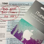 New scam: Student puts $1,762 on iTunes cards to pay IRS