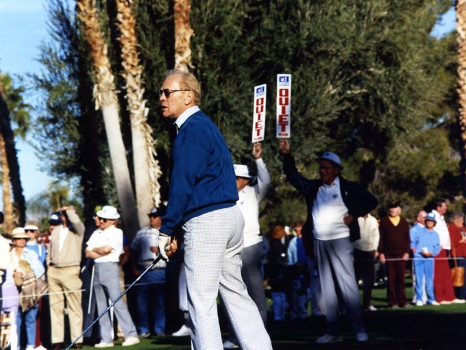 President Gerald Ford golfing in the 1988 Bob Hope