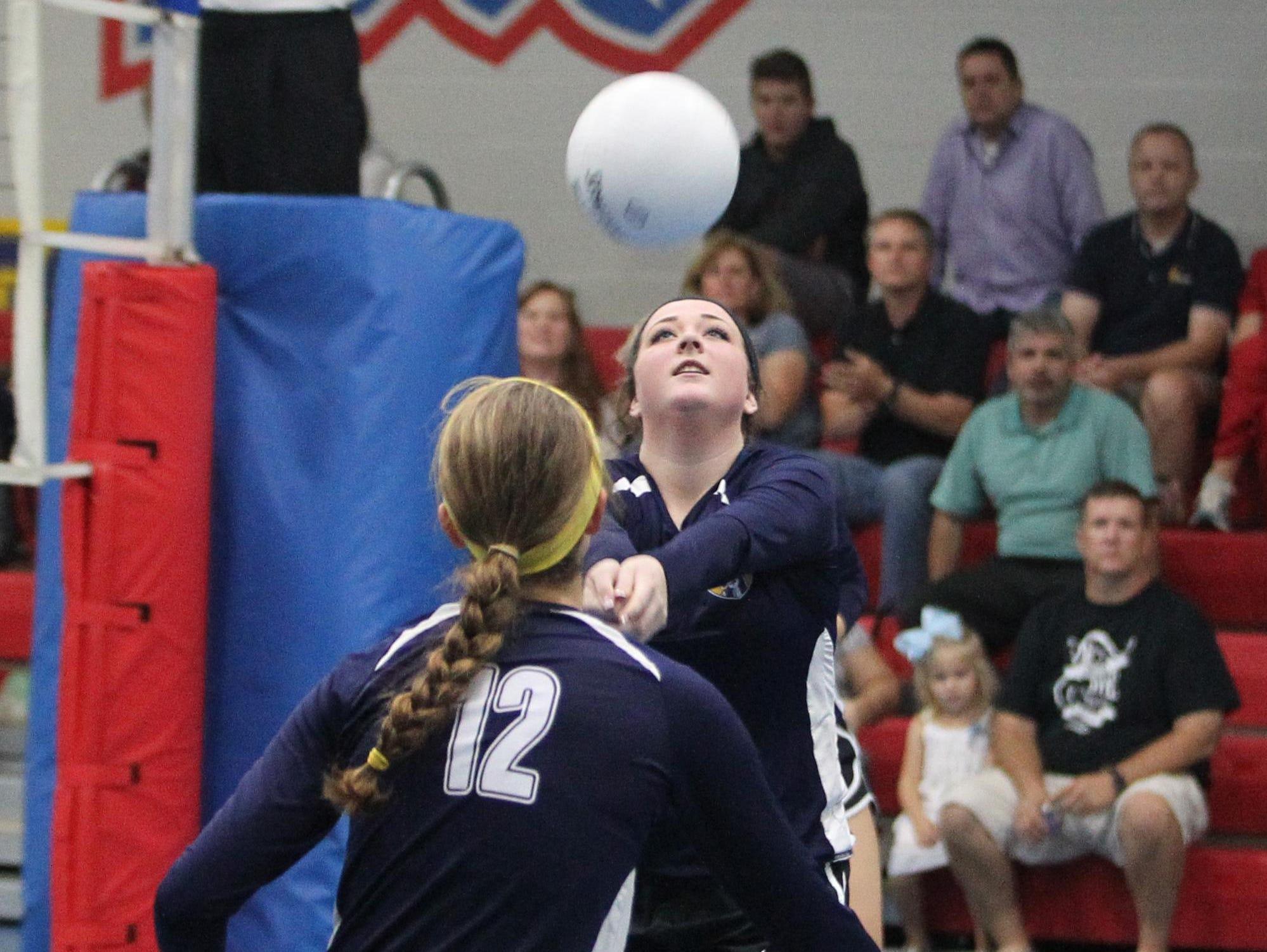 CCS' Savannah Vause tries to get her offense in gear during a Region 1-2A quarterfinal playoff game against Christ's Church Academy.