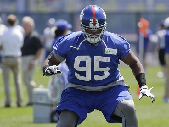 AP GIANTS MINICAMP FOOTBALL S FBN USA NJ