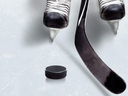 Ice Hockey Game With Copy Space