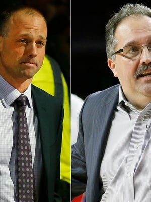 Red Wings coach Jeff Blashill and Pistons coach Stan Van Gundy are looking for their first playoff berths in Detroit.