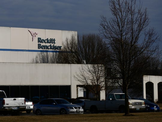 The Reckitt Benckiser plant in Springfield is located