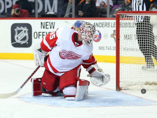 Image result for jimmy howard red wings loss