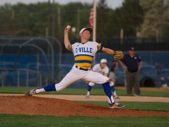Crawfordsville pitcher Trent Johnson.