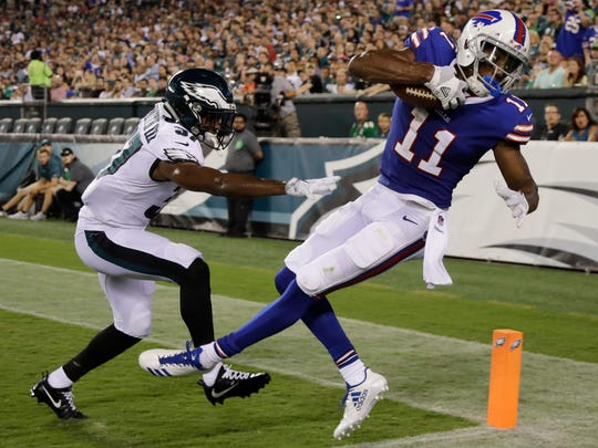 Second-round draft pick Zay Jones shows promise and will start at wide receiver for the Bills Sunday.