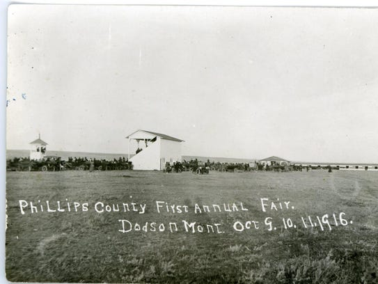 A view of the fairgrounds in Dodson from the first