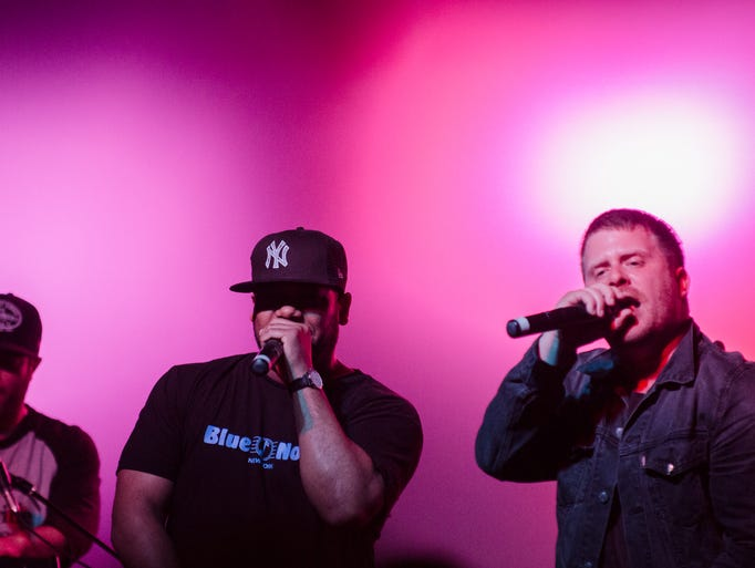 Brooklyn hip-hop artist El-P performs at the Orange Peel in downtown Asheville during Moogfest.4/23/14 - Rich Orris, special to the Citizen-Times
