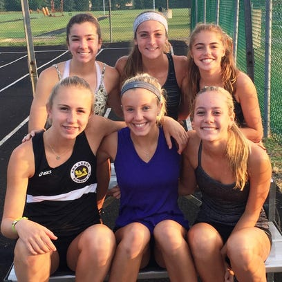 Northville returns its top six runners from a year ago including (bottom row, from left) Lexa Barrott. Cayla Eckenroth, Hailey Harris, all all-staters; (back row, from left) Emma Herrmann, Emma Smith and Rachel Zimmer.