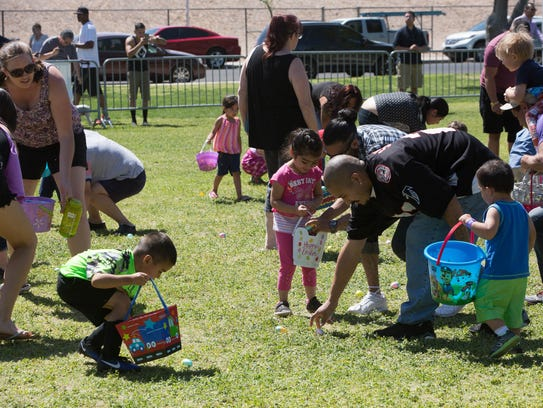 Hundreds of children and their parents attended the