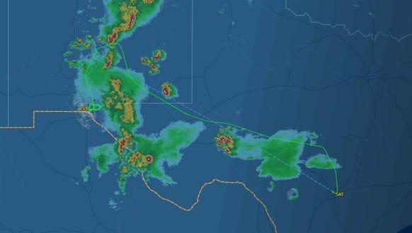 This screenshot from FlightAware.com shows the flight