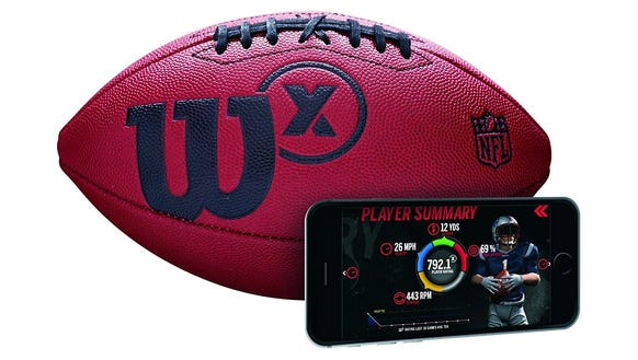 A smart football to track your stats.