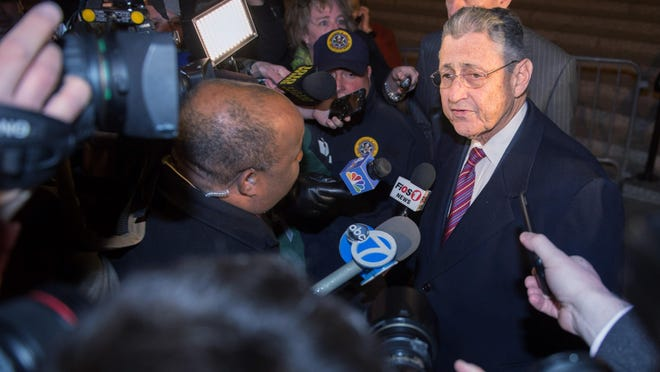 Former New York Assembly Speaker Sheldon Silver speaks as he exits Manhattan federal court following his conviction on corruption charges. AP Former New York Assembly Speaker Sheldon Silver speaks as he exits Manhattan federal court following his conviction on corruption charges Monday.