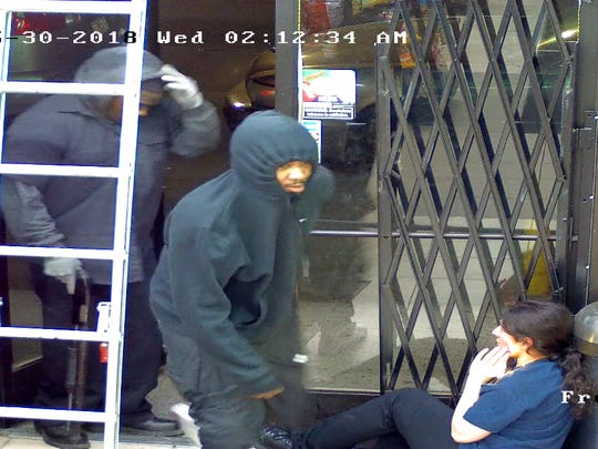 On Wednesday, May 30, 2018 at approximately 2:00 a.m., three suspects (black males, 20's) enter the Crown 7 Liquor Store located in the 18000 block of West Seven Mile Rd.