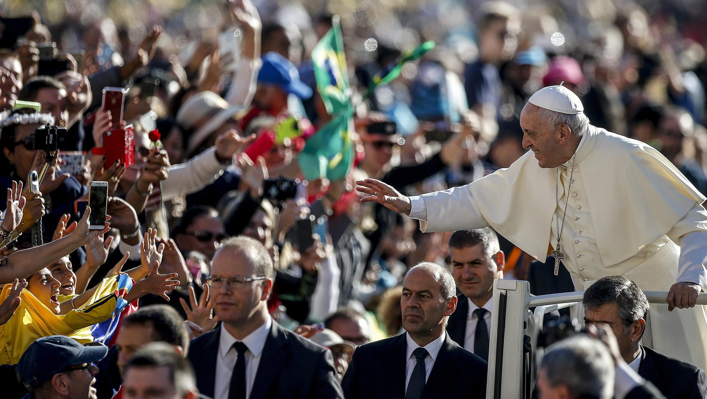 Image result for pope francis named pope crowds