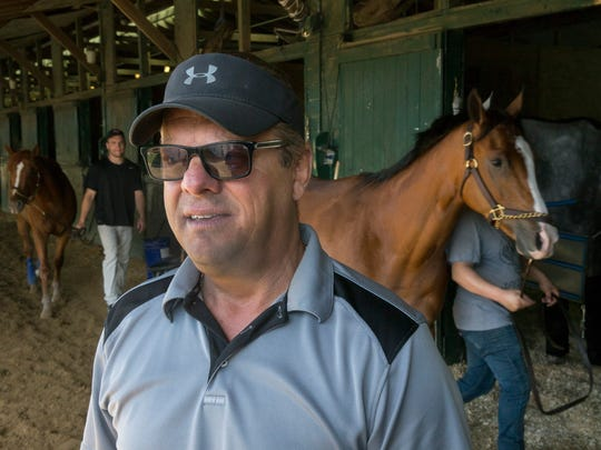 Monmouth Park Trainer John Servis at his stable in