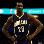 Ian Mahinmi against the Orlando Magic during the second half at Amway Center.