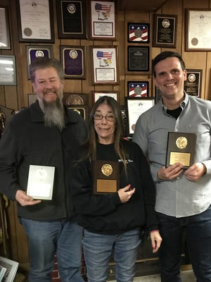 Pictured left to right are: first place PDD Leon Dupas, second place Bonny Pluta, and third place Rob Shropshire.