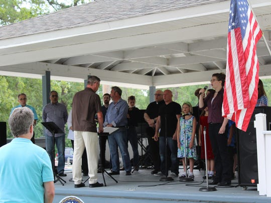 Faith leaders of Hammonton gathered together on the Fourth of July to celebrate freedom and the town's 150th anniversary.
