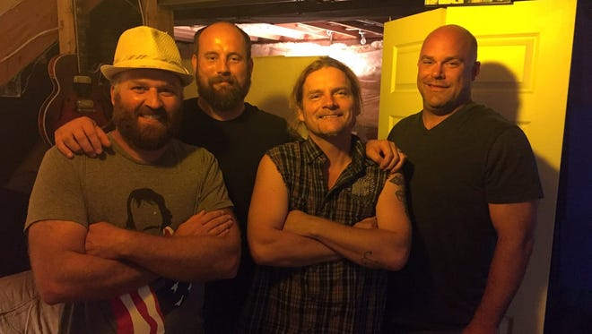 Tesla guitarist Frank Hannon, second from right, recorded with the Easthills in Indiana.
