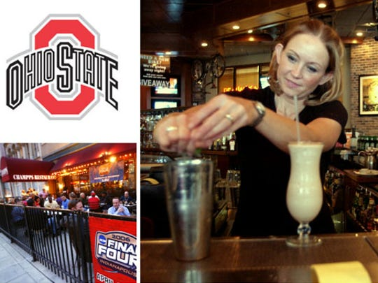 Ohio State fans are rallying at Champps Americana, 49 W. Maryland Street.