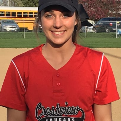 Crestview pitcher Kennedy Hickey threw 11 strikeouts