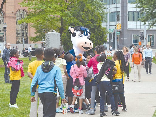 One cow was in attendance and she was a big hit with