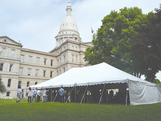Dairy Awareness Day at the Capitol gave everyone a chance to enjoy some free dairy treats.