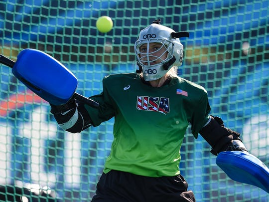 Alesha Widdall, from Whitney Point, is an alternate goalkeeper for the United States' field hockey team competing in the Olympic Games in Rio.