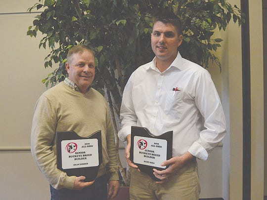 The Buckeye Builder Awards were presented. The Senior award went to Dean Zimmer (left) and the Junior Award went to Rudy Kiko (right).