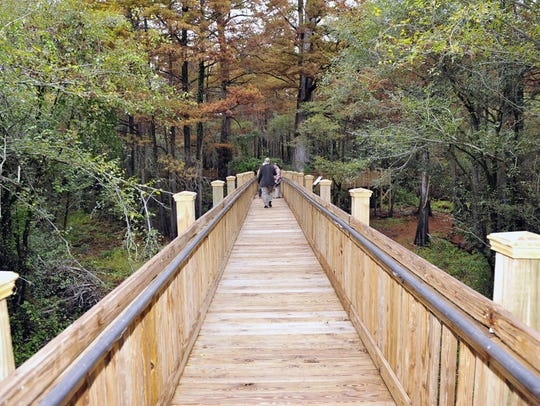 Sky Lake WMA offers a 1,700-foot boardwalk and a paddling