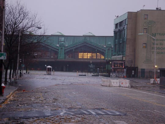 The Hoboken Path Terminal was closed due to flooding after Superstorm Sandy.