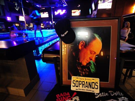 James Gandolfini's memorial at the Satin Dolls gogo club in Lodi.