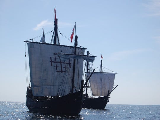 Replicas of Columbus' ships the Nina and Pinta will visit the Gulf Coast in March 2-6