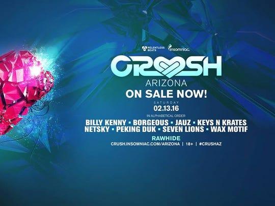 The Crush Arizona EDM concert  is set for Saturday,