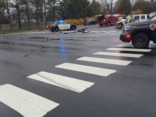 Three cars collided on Colts Neck Road in Freehold, police said.