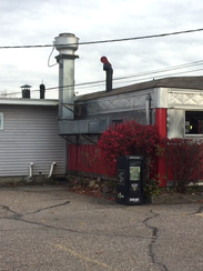 A view from the parking lot: Parkway Diner, as seen