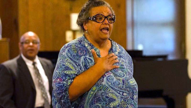 More than 100 people attended a town hall meeting to save Townsend Community Center at Mt. Olive Baptist Church on North H Street in Richmond on Thursday, Sept. 22, 2016.