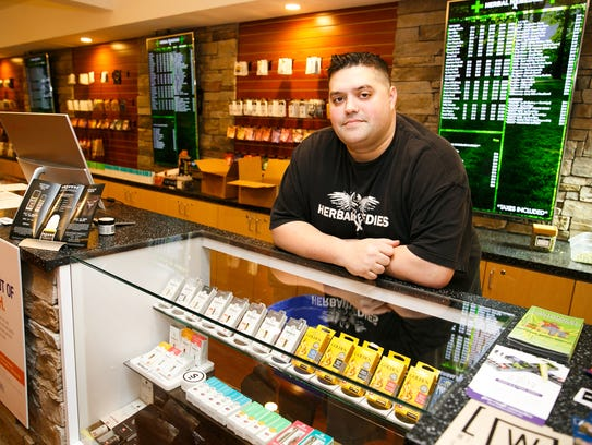 """Jered DeCamp, co-owner of Salem marijuana retailer Herbal Remedies, on Thursday, Jan. 4, 2018. DeCamp says an employee who failed to verify a minor's age at Herbal Remedies has been fired. """"It's a disgrace to my company,""""DeCamp said. """"We strive to uphold a better standard."""""""