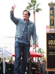 Quentin Tarantino attends a ceremony honoring him with