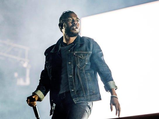 Kendrick Lamar performs at the Hot 97 Summer Jam on