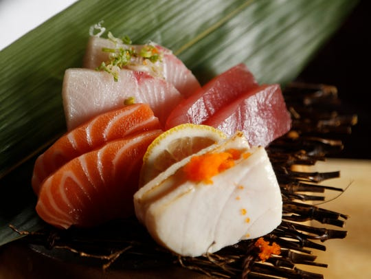 The sushi and sashimi meal Wednesday, Oct. 11, 2017, at W-Tao in downtown Des Moines.