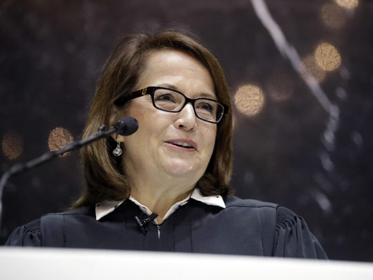 Indiana Supreme Court Chief Justice Loretta Rush delivered her State of the Judiciary address before a joint session of the General Assembly at the Statehouse on Wednesday, Jan. 13, 2016.